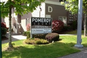 Pomeroy Court sign